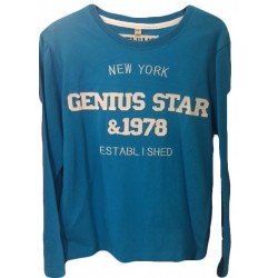 Tee-shirt New york turquoise