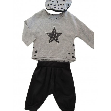 Ensemble panta jogg b b fille sur look de momes v tements - Vetement bebe fille fashion ...