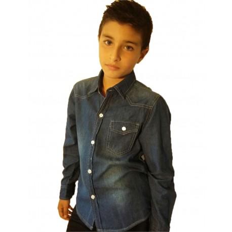 Chemise en jean's garçon