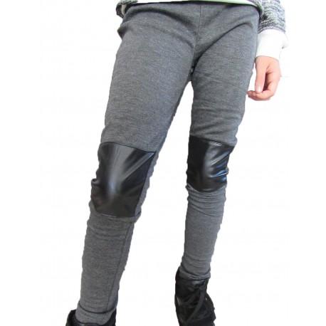 pantalon semi cuir