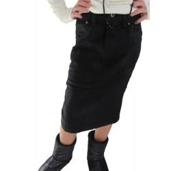 Jupe noir mi-longue