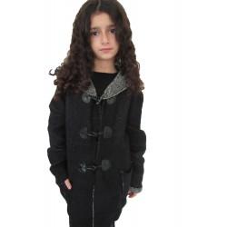 Gilet noir style duffle coat