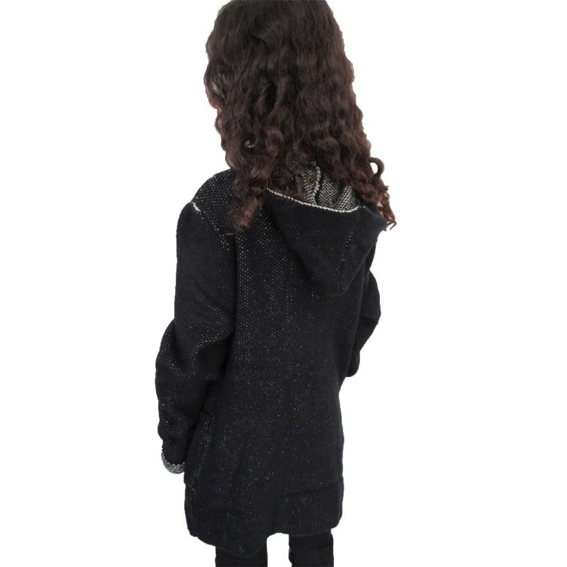 gilet noir style duffle coat sur look de momes v tements pas cher pour enfants fashion. Black Bedroom Furniture Sets. Home Design Ideas