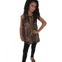 Tunique léopard 10-16 ans