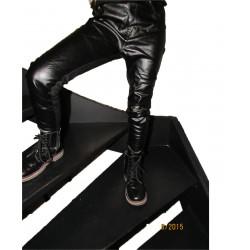 patalon-legging bi-matière noir