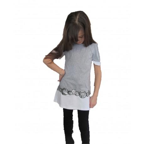 Tunique - robe grise de 2 à 12 ans