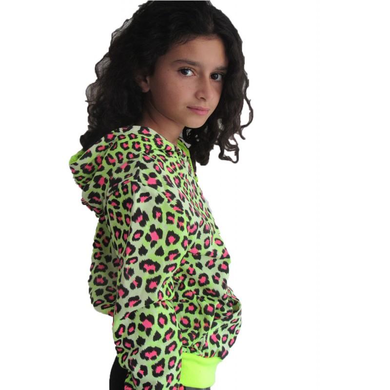 gilet l opard jaune sur look de momes v tements pas cher pour enfants fashion. Black Bedroom Furniture Sets. Home Design Ideas