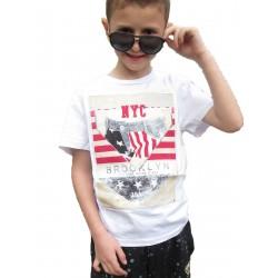 T.shirt blanc Brooklyn
