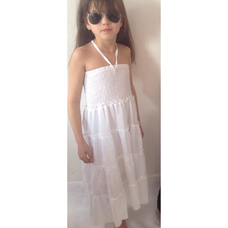 67529f1fcd8e57 jupe / Robe gitane blanche - Look de Momes
