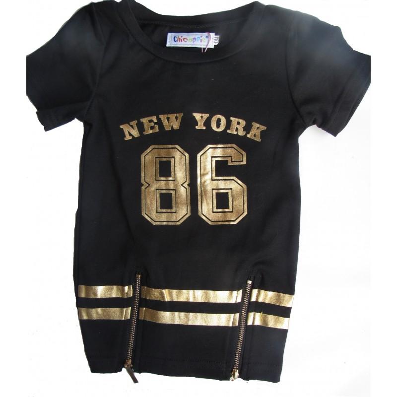 ensemble robe legging new york b b noir sur look de momes v tements pas cher pour enfants fashion. Black Bedroom Furniture Sets. Home Design Ideas