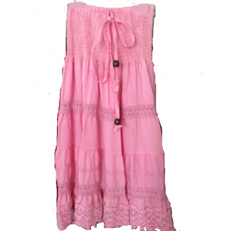 a1353d8ad22fda Jupe / Robe gitane rose - Look de Momes