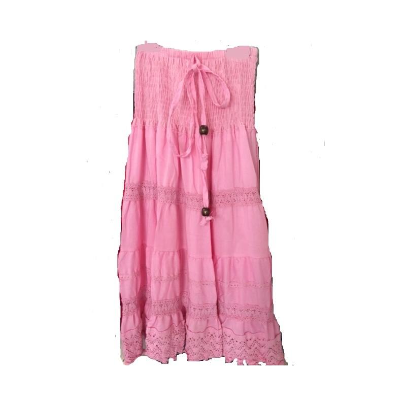 236e1fe8a17c26 Jupe / Robe gitane rose sur Look de Momes vêtements pas cher pour ...