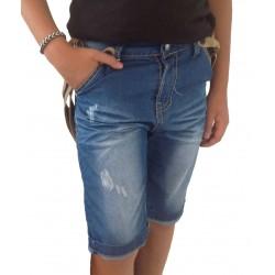 Short jean's à bretelles