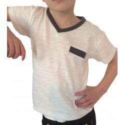 """Tee-shirt """"V"""" blanc"""
