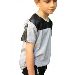 Tee-shirt cuir gris