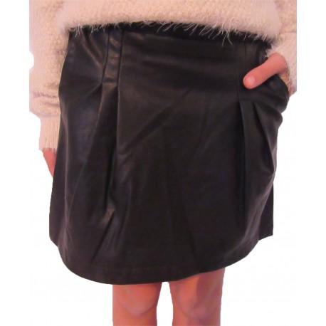 Mini jupe simili cuir