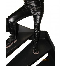 pantalon-legging bi-matière noir