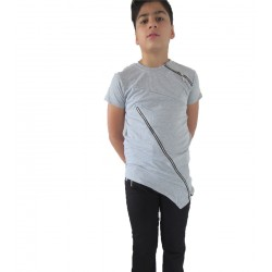 Tee-shirt asymetrique gris