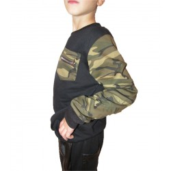 Pull duo noir militaire