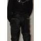 Pantalon noir satiné