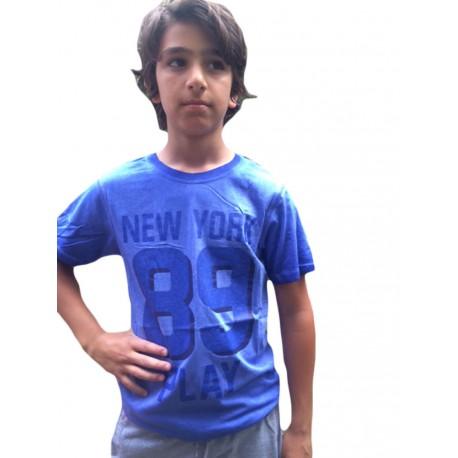 T-shirt bleu New York 89