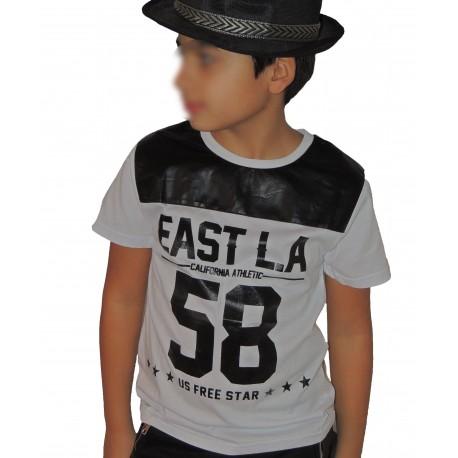 """Tee-shirt """"L.A"""" blanc"""
