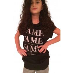 Tunique T.shirt FAME noir