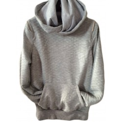 Sweat gris clair col rond